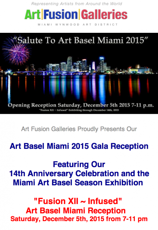 MIami Basel Art 2015,  art fusion galleries,  sylvie hamou,  abstract art
